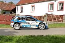 Jan Kopecký na trati 42. ročníku Invelt Rallye Pačejov.
