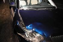 Auto, které u Novákovic srazilo chodce.