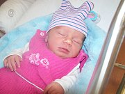 Katarína Pešlová z Kašperských hor (2500 g, 45 cm) se narodila v klatovské porodnici 11. října v 8.47 hodin. Rodiče Jaroslava a Radek si nechali pohlaví miminka jako překvapení na porodní sál. Na sestřičku se doma těší Kristián (1,5 roku) .