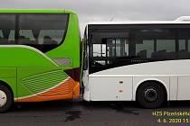 Nehoda dvou autobusů