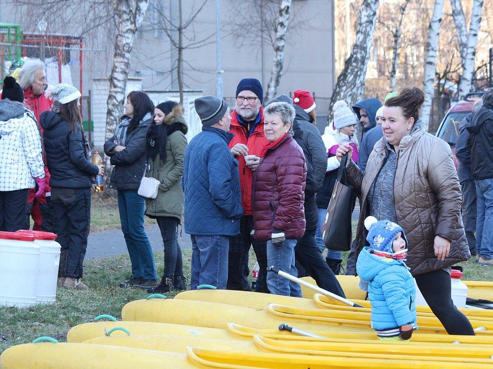 Vánoční splouvání Otavy s Lubomírem Brabcem.