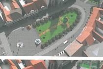Vizualizace horažďovického náměstí