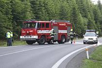 Smrtelná nehoda motorkáře u Javorné.