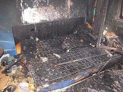 Požár bytu v Horažďovicích.