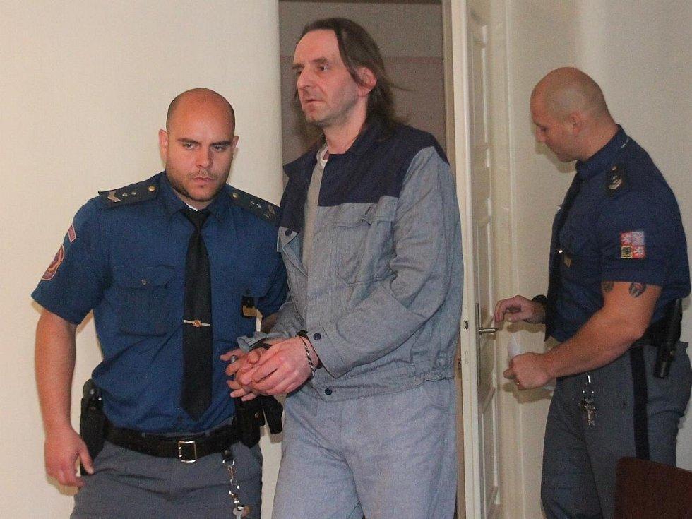 Karel Bořánek u klatovského soudu