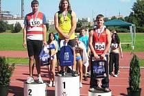 Stříbrná medaile z mistrovství republiky žáků ozdobila sušický atletický talent Josefa Korála.