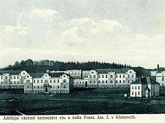 Okresní nemocnice císaře a krále Františka Josefa I. v Klatovech v roce 1914