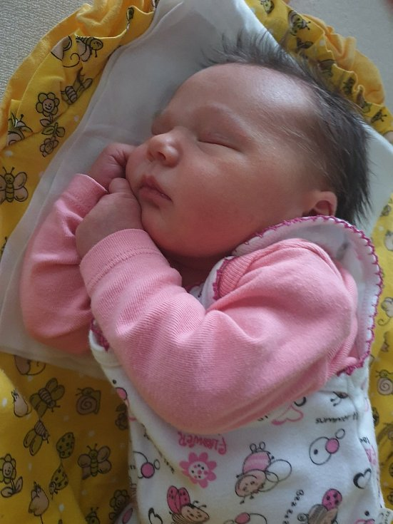 Julie Tomášková z Chomle se narodila 20. května 2021 v 8:09 v porodnici v Hořovicích (3680 g, 50 cm) mamince Janě a tatínkovi Vladimírovi. Na Julinku doma čekala sestra Adélka.