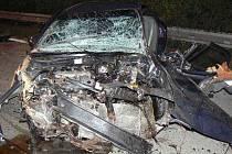 Při dopravní nehodě na D5 bylo zraněno pět lidí