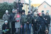 Silvestrovský pochod v Podmoklech 2016.