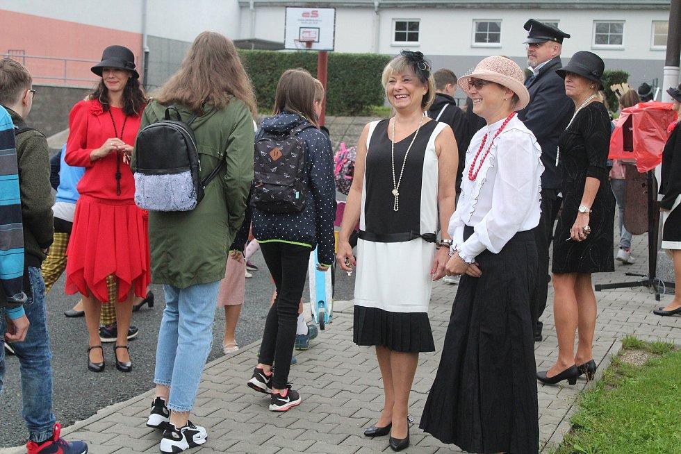 Zahájení školního roku v Masarykově základní škole v Klatovech.