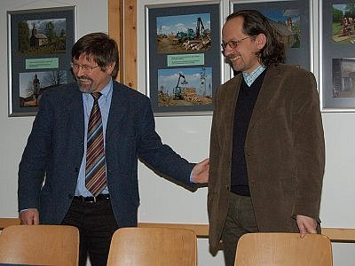 Ředitel NPŠ František Krejčí (vpravo) a ředitel NPBL Karl Friedrich Sinner.