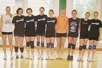 Družstva dívek z Gymnázia J. Vrchlického v Klatovech