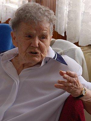 Anna Brůhová z Dolan oslavila 95. narozeniny.