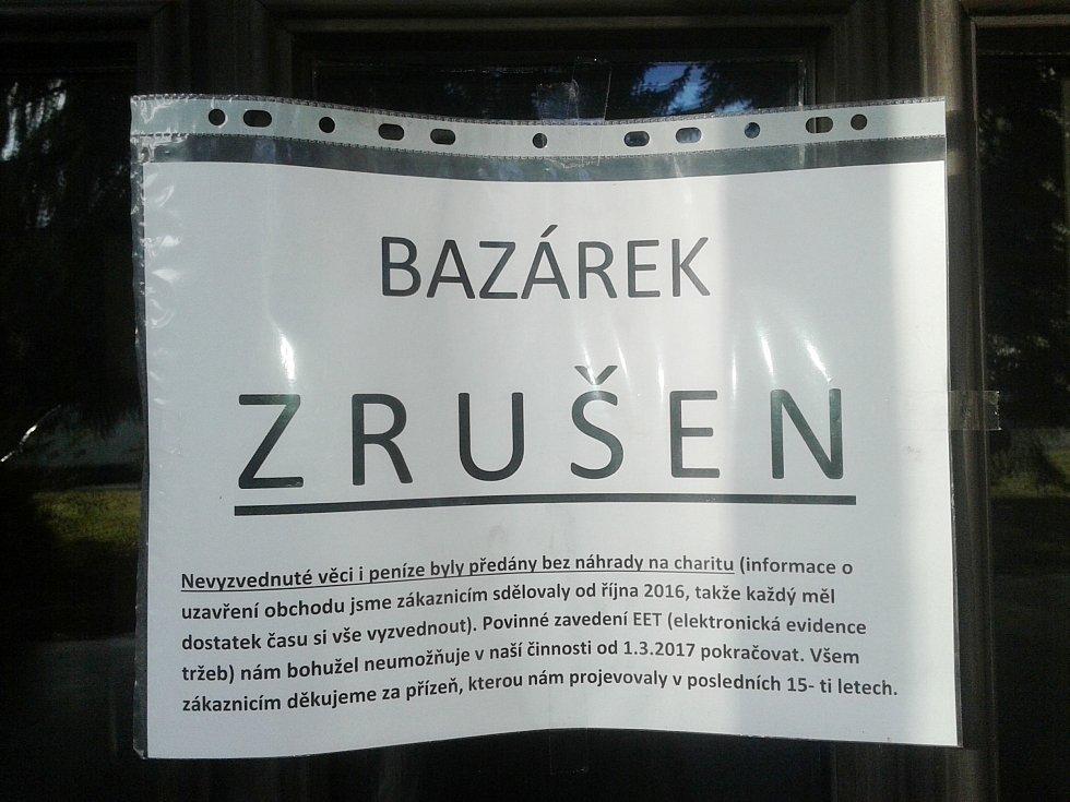Některé obchody v Klatovech skončily kvůli EET.