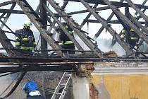 Požár rodinného domu v Plánici.