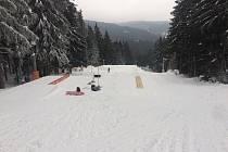 Snowpark na Špičáku.