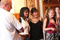 Návštěva studentů z Poligny a z klatovského gymnázia na klatovské radnici