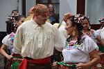 Folklorní soubor Azuani z Mexika v Domově pokojného stáří Naší Paní v Klatovech.