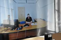 Líčení s Martinem M. se konala formou videokonference mezi soudní síní a dobřanskou nemocnicí.
