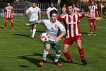 Luby (v červeném) zdolaly doma Bělou nad Radbuzou 1:0.