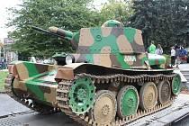Výstava TGM a armáda, historický tank a dobový tábor v Klatovech