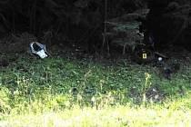 Nehoda motorkáře na Šumavě.