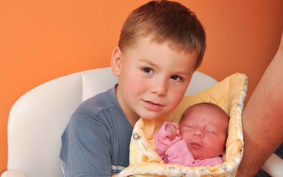 Tereza Průchová z Nové Vsi – Vísky (3110 g) se narodila ve strakonické porodnici 22. srpna ve 21.50 hodin. Na holčičku se těšili rodiče Kateřina a Jakub a bráška Jaroušek (3).