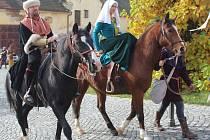 Na ukončení sezony přijel do Chudenic Karel IV.
