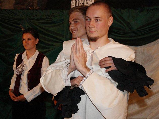 Divadlo v katakombách v Klatovech.