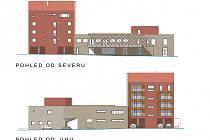 Vizualizace nové multifunkční budovy na Špičáku