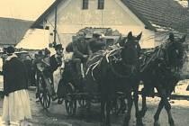 Masopust ve Velešicích v roce 1959.