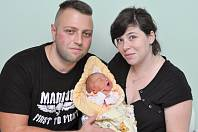 Sofie Vosková z Horažďovic (3100 g) se narodila ve strakonické porodnici 5. ledna v 11.53 hodin. Rodiče Karel a Nikola se na prvorozenou dceru těšili.