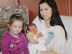 Damián Duchoň z Osvračína se narodil v klatovské porodnici 12. dubna ve 14.15 hodin. Vážil 3555 gramů a měřil 50 cm. Rodiče Lucie a Zdeněk přivítali očekávané syna na světě společně. Brášku už doma očekává Matěj (6) a Lucie Viktorie (4,5).