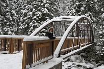 Otevření Klostermannova mostu na Srní