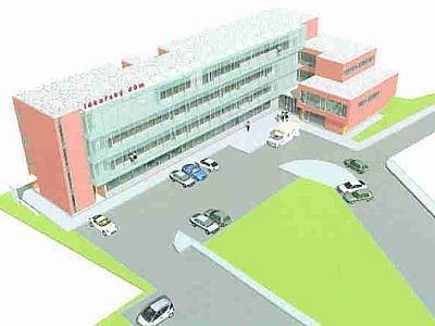 Studie, jak by měl plánovaný lékařský dům v Nádražní ulici v Klatovech vypadat.