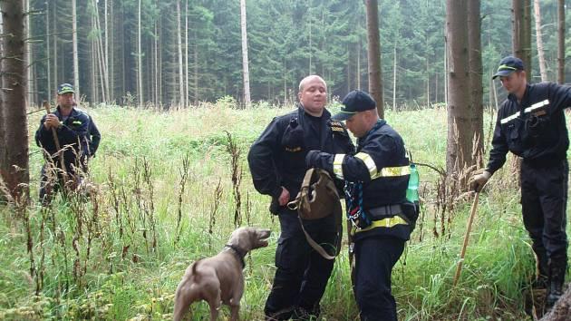 Hasiči a policisté zachraňovali život, cvičení