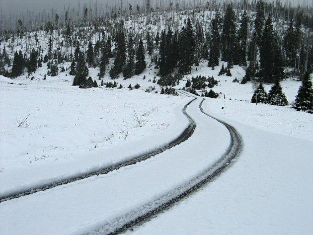 Sníh na Březníku
