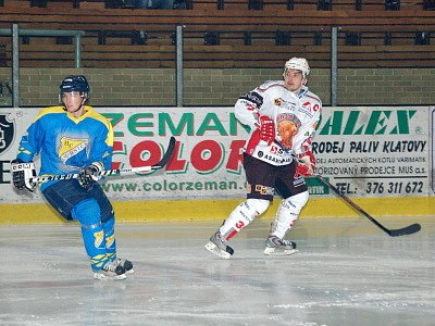 Hokejisté SHC Maso Brejcha Klatovy porazili v nedělním utkání šestadvacátého  kola druholigové skupiny Západ své hosty z HC Roudnice nad Labem vysoko 8:3.