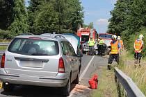 Dopravní nehoda u Bystřice nad Úhlavou.