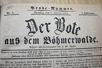 Týdeník Posel ze Šumavy vycházel v němčině