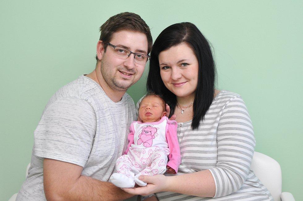 Štěpánka Šašková z Velkých Hydčic (2910 g) se narodila ve strakonické porodnici 17. ledna v 11.20 hodin. Rodiče Michaela a Pavel se na prvorozenou dceru těšili.