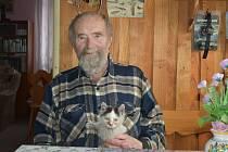 Vladislav Valečka, který desítky let žil na Filipově Huti, zažil na Šumavě kruté zimy.
