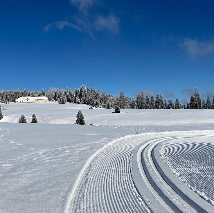 Krásná zima na Modravě.