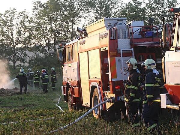 Požár stohu ve Švihově
