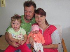 Kamila Králová z Kolince (3050 gramů, 49 cm) se narodila v klatovské porodnici 17. září v 1.24 hodin Janě a Václavu Královým. Ze  sestřičky má radost i Markétka (2).