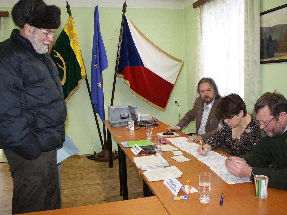 Volby v Srní 31. 1. 2015.