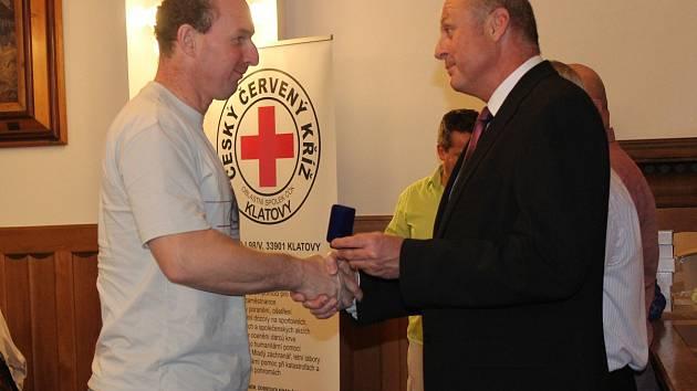 Oceňování dárců krve v Klatovech