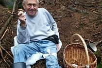 František Keliš po zranění v lese. Foto: archiv Františka Keliše