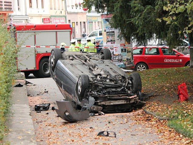 První nehoda v Klatovech na Rybníčkách